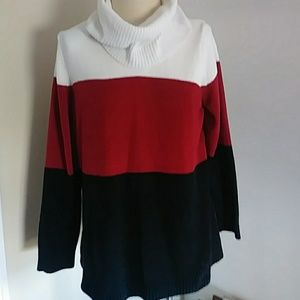 White stag turtleneck sweater